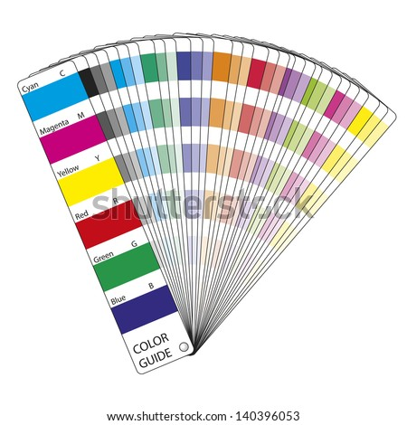 Illustration of a color guide for printing and design - stock vector