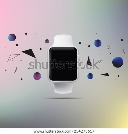 Illustration of a conceptual smart watch - stock vector