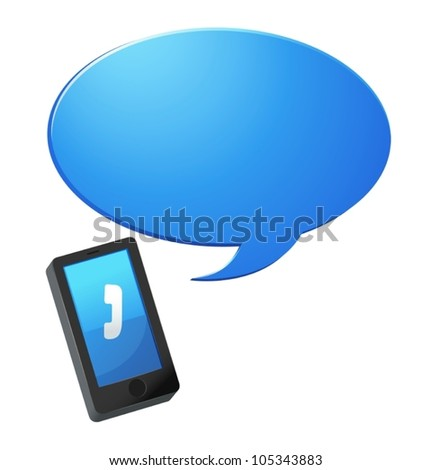 Illustration of a contact icon - stock vector