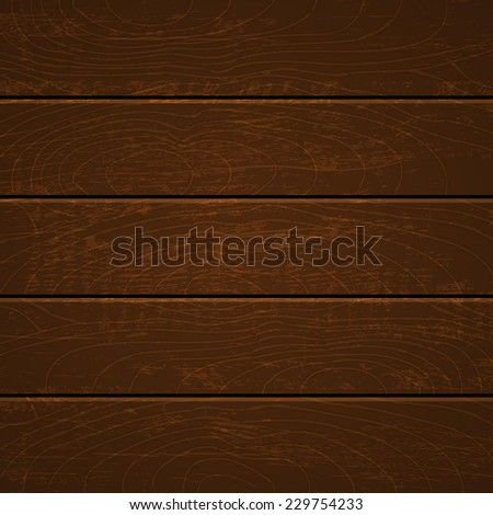 Illustration of a dark wooden background - stock vector