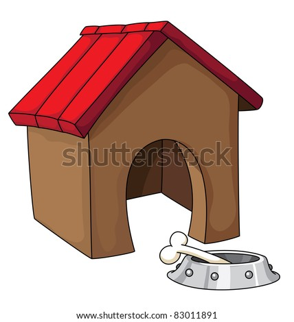 illustration of a dog house - stock vector