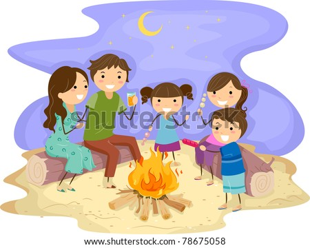 a Bonfire - stock vect...