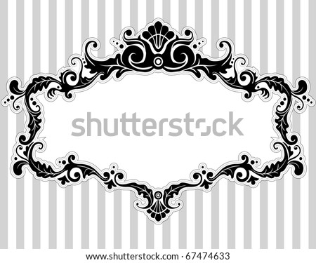 Illustration of a Frame with a Victorian Style - stock vector