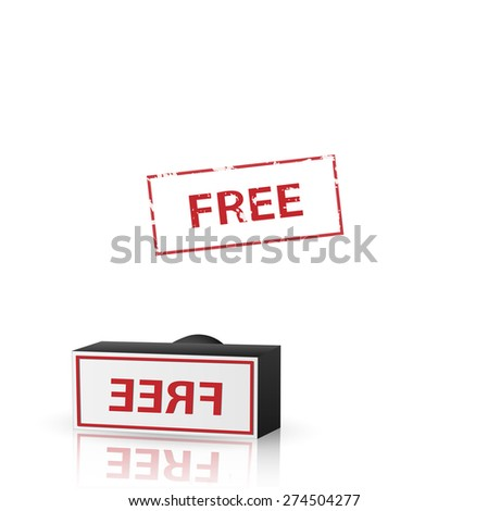 Illustration of a free stamp isolated on a white background. - stock vector
