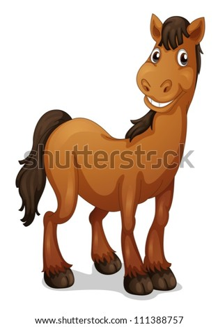 Illustration of a funny horse - stock vector