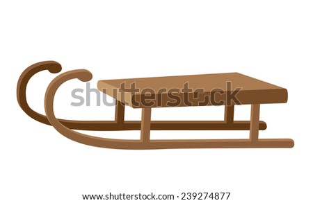 illustration of a funny sled - stock vector