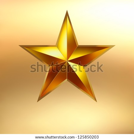Illustration of a Gold star on gold background. EPS 8 vector file included - stock vector