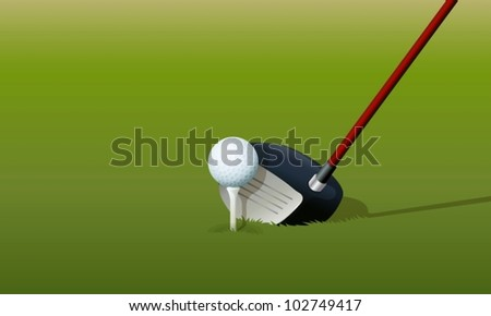 Illustration of a golf drive - stock vector