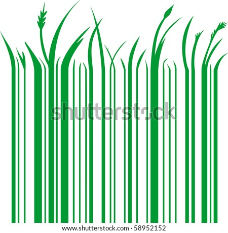 illustration of a green barcode - stock vector
