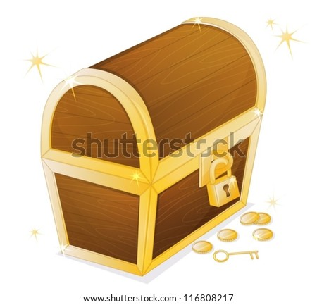 illustration of a jewellery box on a white background - stock vector
