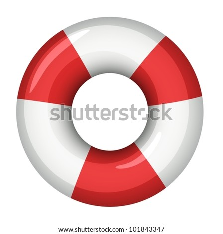 Illustration of a life saver - stock vector