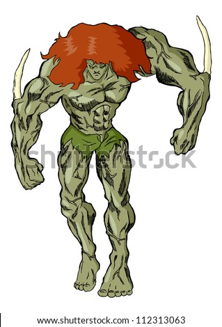 Illustration of a monster - stock vector