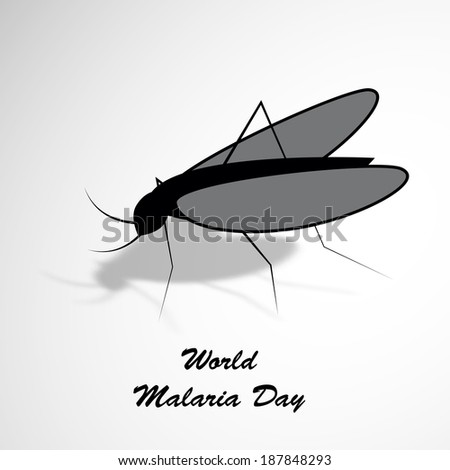Illustration of a Mosquito for World Malaria Day - stock vector