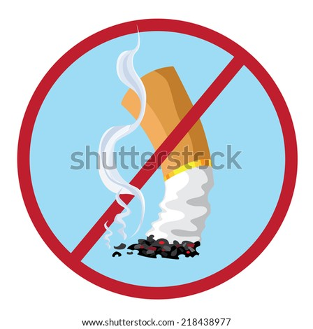 illustration of a no smoking - stock vector