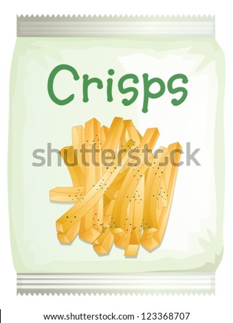 Illustration of a packet of frech fries on a white background - stock vector