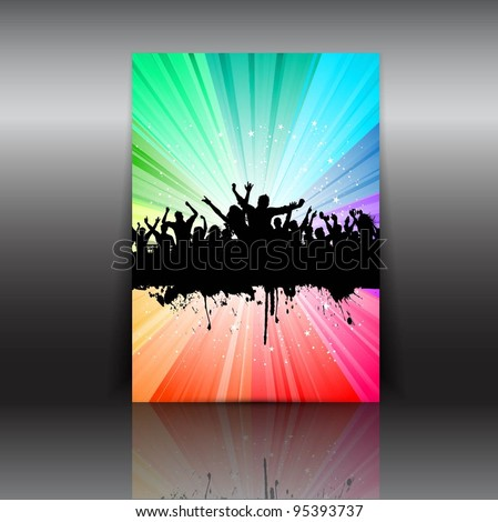 Illustration of a party flyer layout - stock vector
