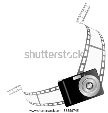 Illustration of a photo camera border - stock vector