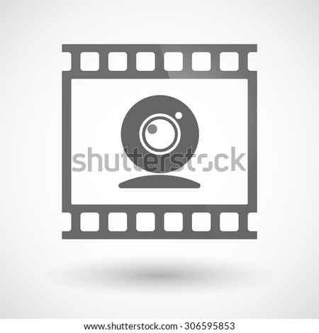 Illustration of a photographic film icon with a web cam - stock vector