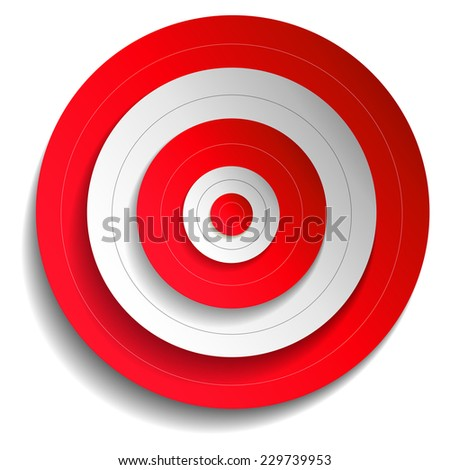 Illustration of a red target - stock vector