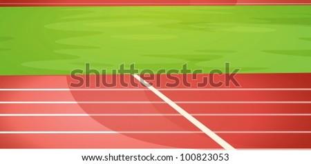 Illustration of a running track - stock vector