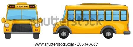 Illustration of a school bus - stock vector