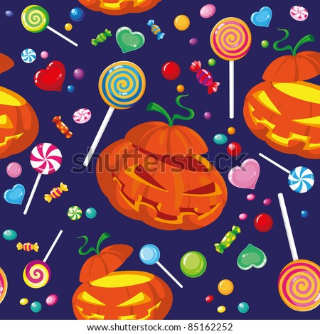 illustration of a seamless halloween candy - stock vector