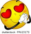Illustration of a Smiley in Love - stock vector