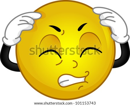 Stock Images Similar To Id 110199806 Emoticon With Headache