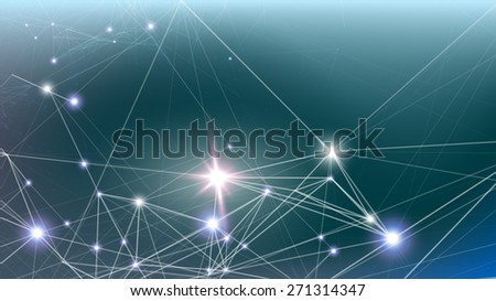 Illustration of a social network (vector image) - stock vector