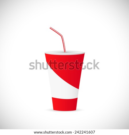 Illustration of a soda fountain drink isolated on a white background. - stock vector