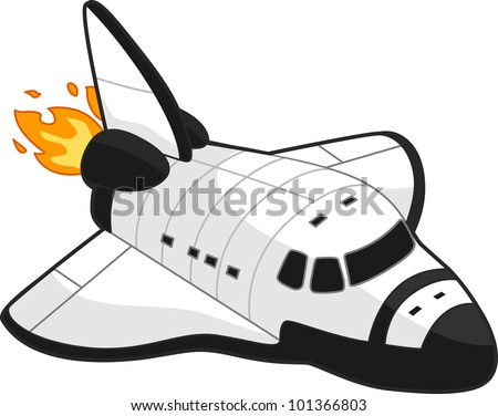 Illustration of a Space Shuttle - stock vector