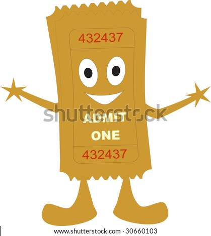 illustration of a ticket admit one - stock vector