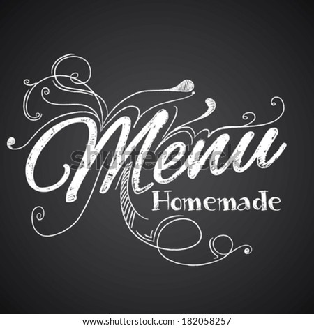 Illustration of a vintage Meny blackboard - stock vector