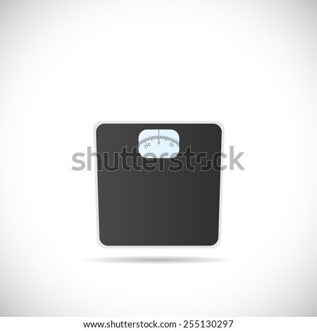 Illustration of a weighing scale isolated on a white background. - stock vector