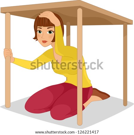 Hiding under table Stock Photos, Images, & Pictures ...