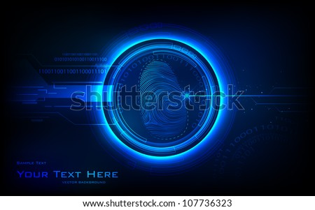 illustration of abstract biometrics technology background - stock vector