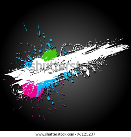 illustration of abstract colorful grungy background - stock vector