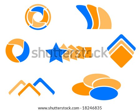 Illustration of abstract elements - stock vector