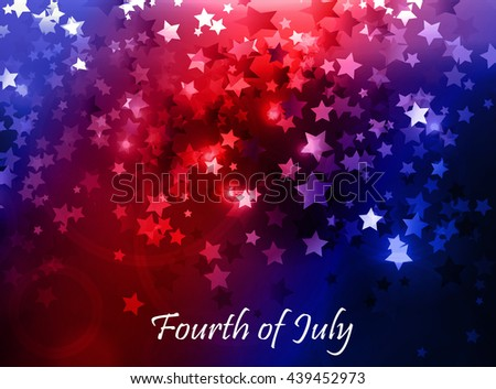 illustration of abstract for Independence Day - stock vector
