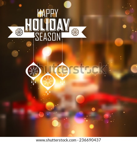 illustration of abstract Merry Christmas and Happy New Year Background - stock vector