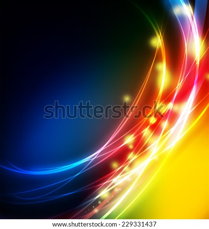 Illustration of abstract shiny wave background - stock vector