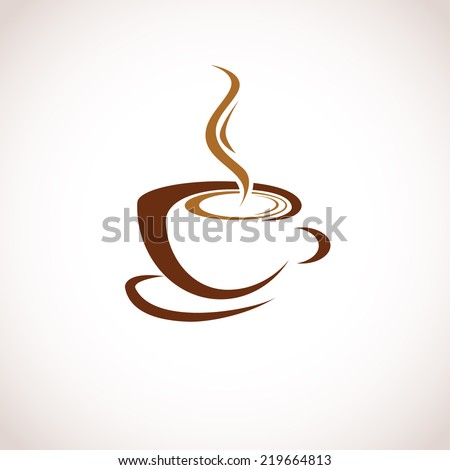 Illustration of Abstract Single Coffee Cup - stock vector