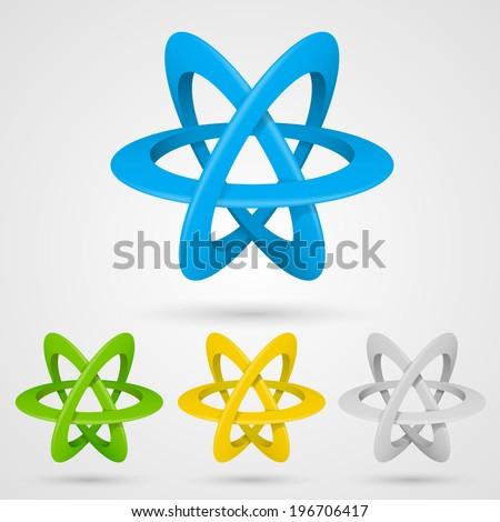Illustration of an atom. Vector  - stock vector