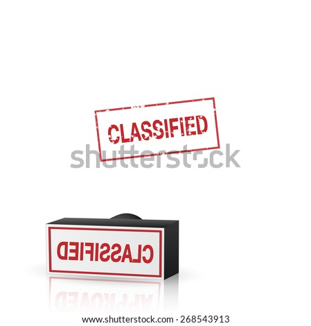 Illustration of an classified stamp isolated on a white background. - stock vector