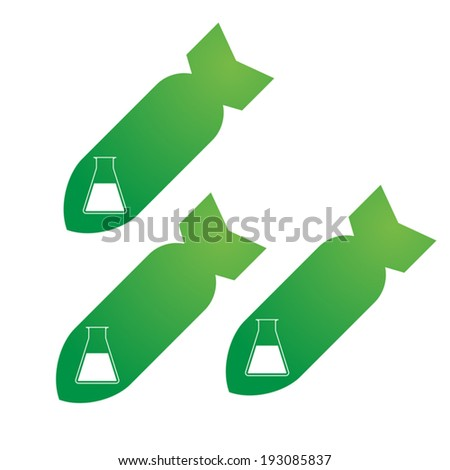 Illustration of an isolated bombs icon - stock vector