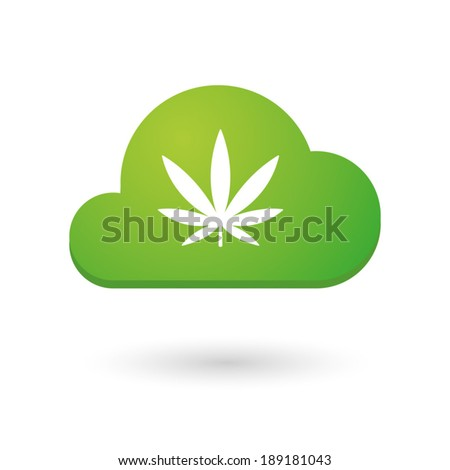 Illustration of an isolated cloud with an icon - stock vector