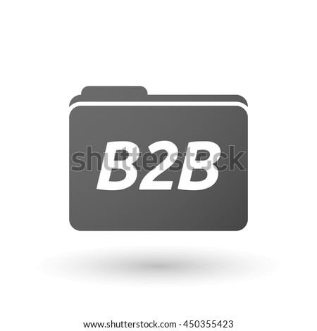 Illustration of an isolated folder icon with    the text B2B - stock vector