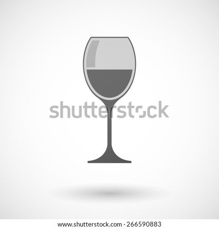 Illustration of an isolated grey glass icon - stock vector