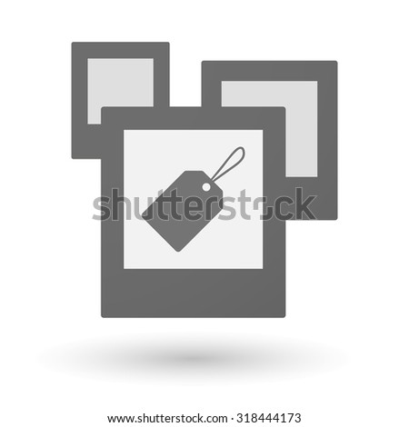 Illustration of an isolated group of photos with a label - stock vector