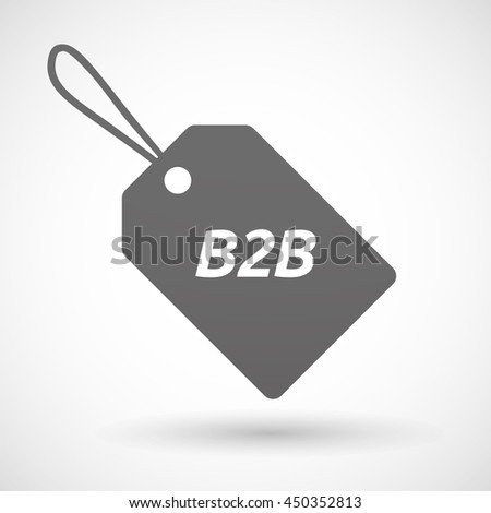 Illustration of an isolated product label icon with    the text B2B - stock vector